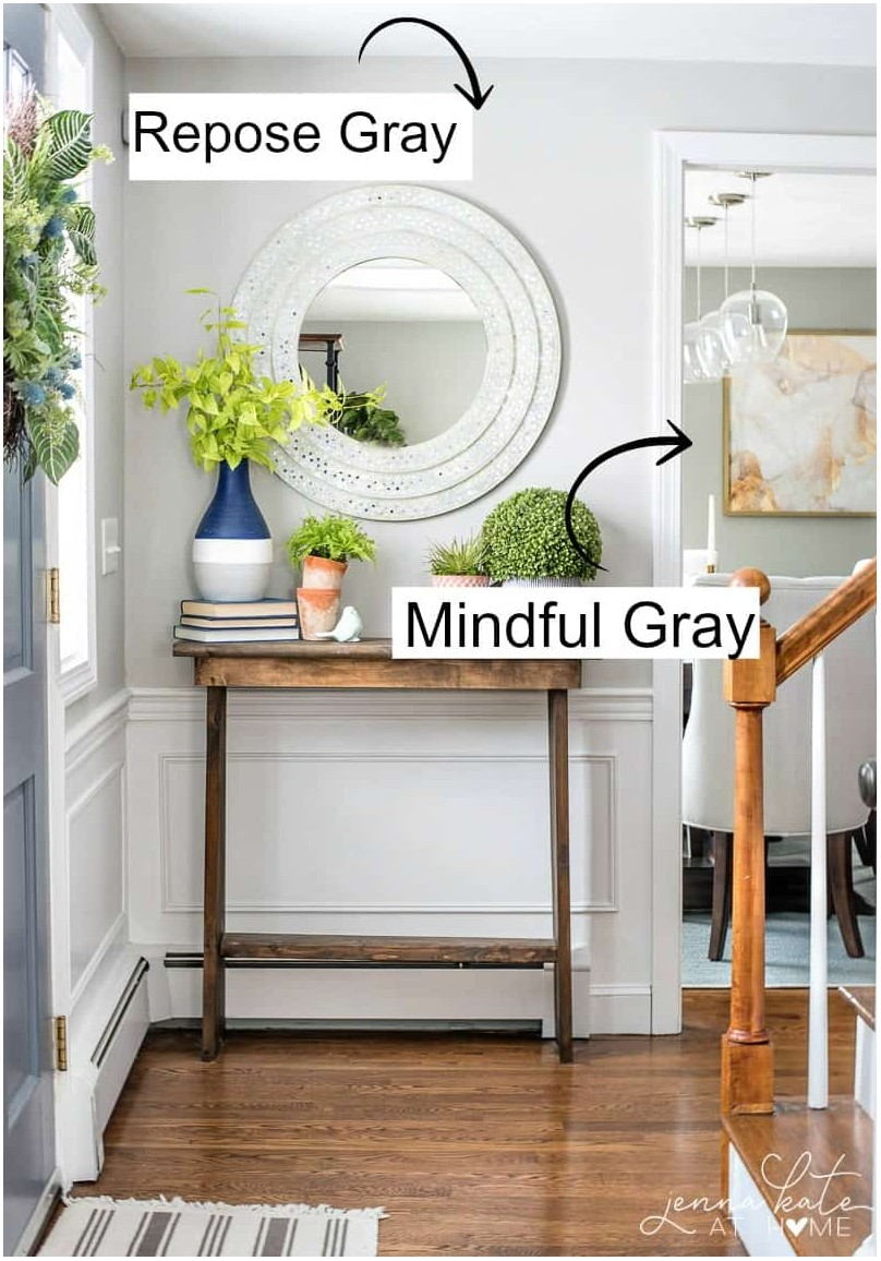 Living Rooms Painted Mindful Gray