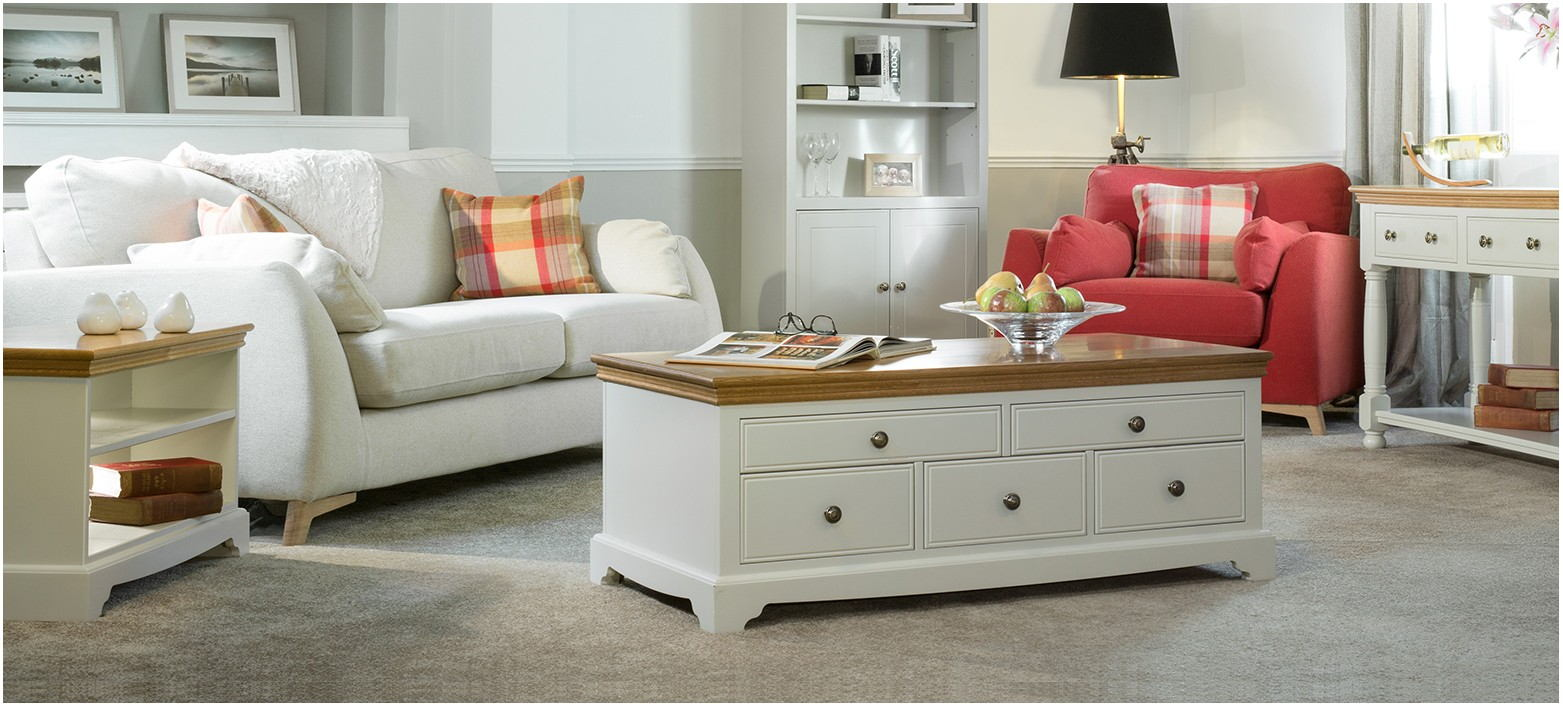 Living Rooms With Painted Furniture