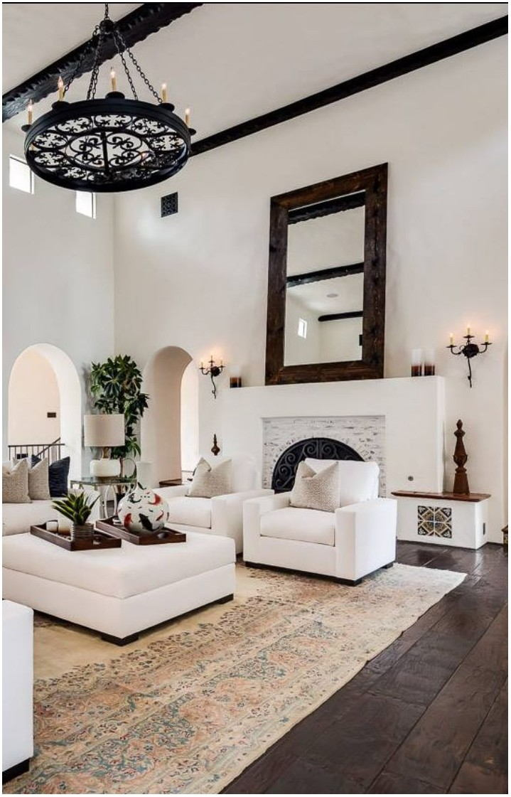 Mediterranean Pattern Style Living Room Interior