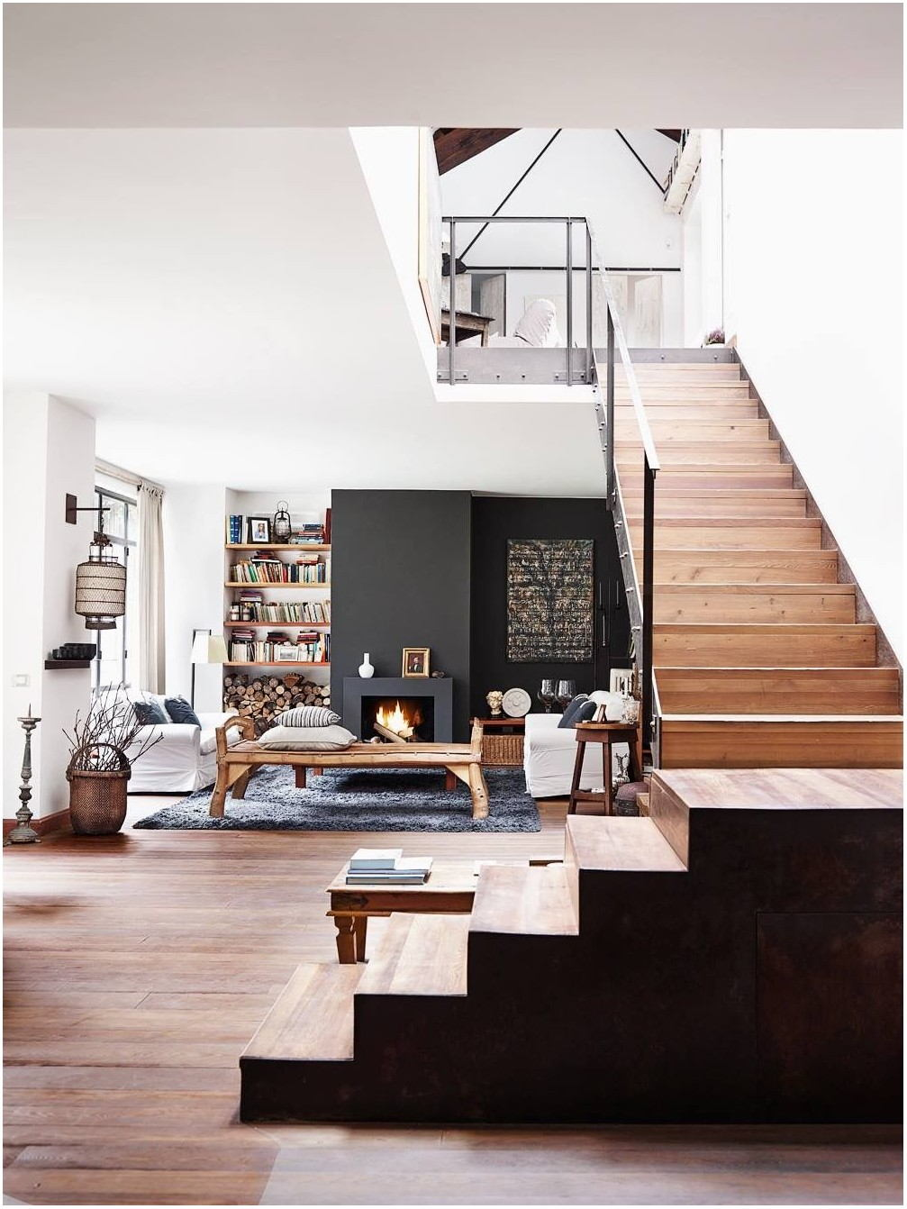Modern Interior Living Room Stairs