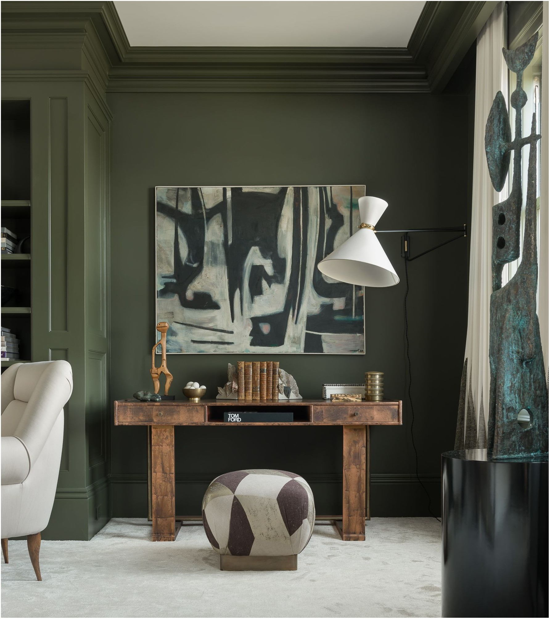 Olive Green Paint Job Living Room