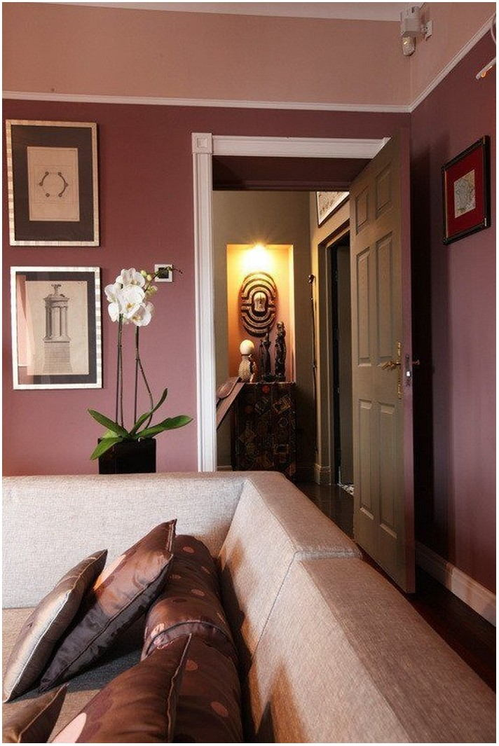 Painted Marsala Living Rooms