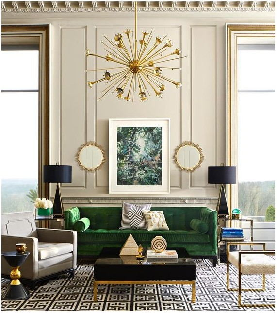 Painting Your Living Room Emerald Green