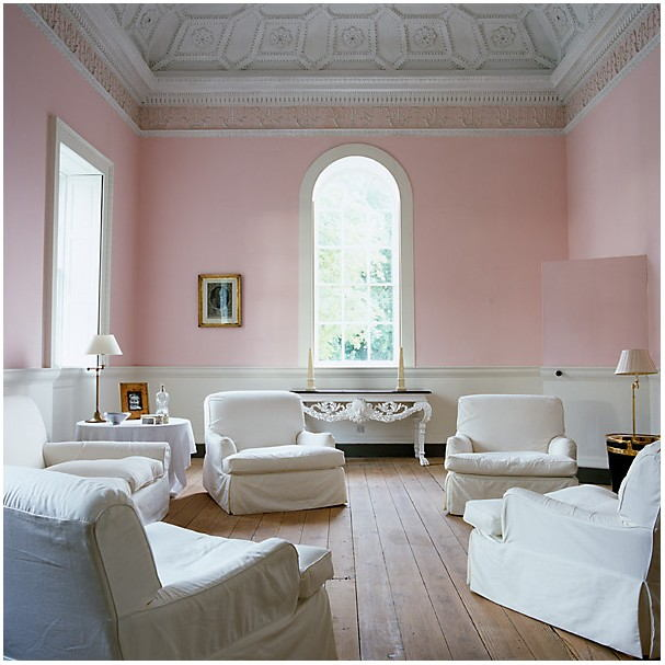 Pale Pink White Paint Color Living Room