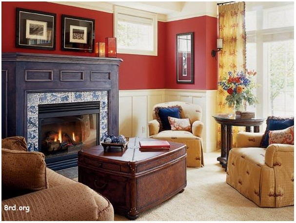Photos Red Painted Living Rooms