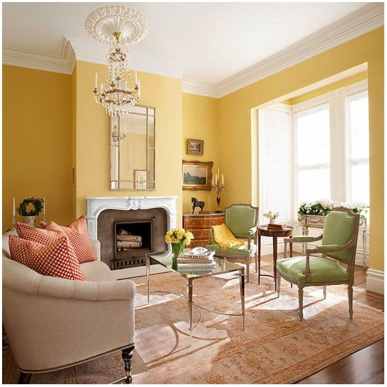 Pictures Of Yellow Painted Living Rooms