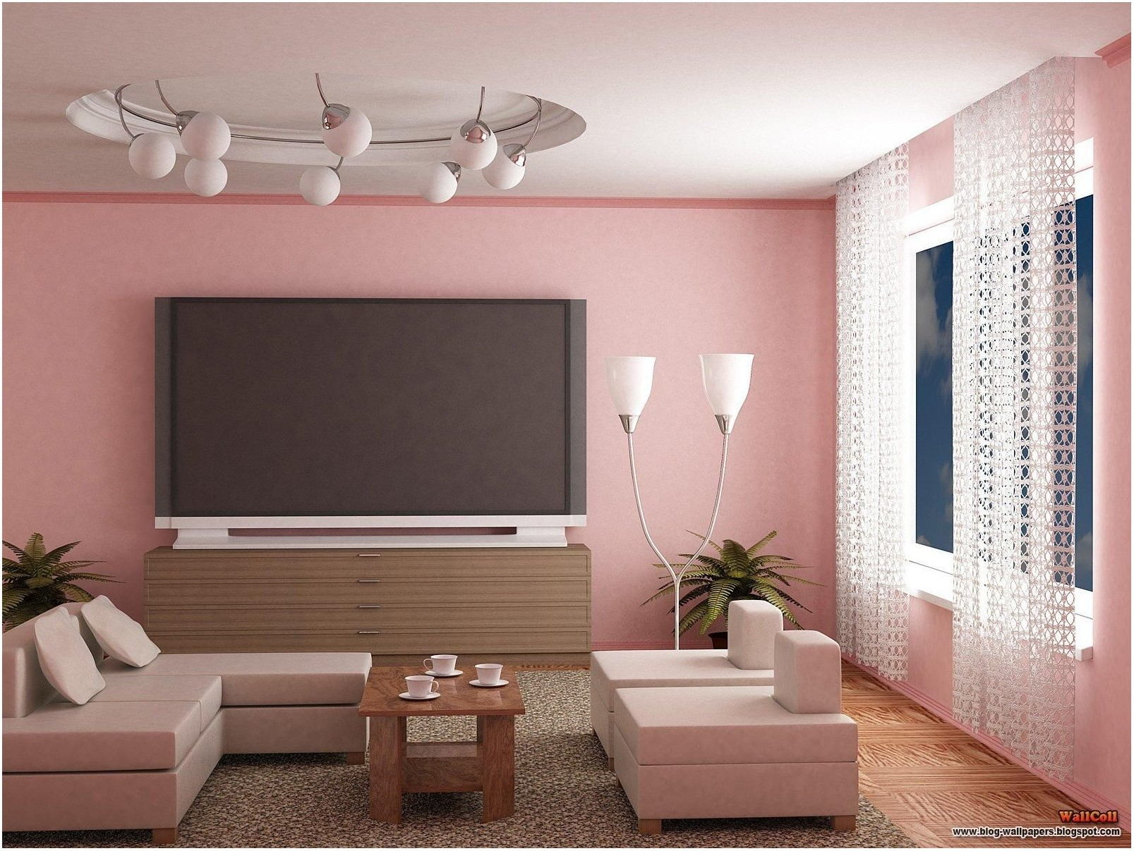 Pink Living Room Paint Ideas