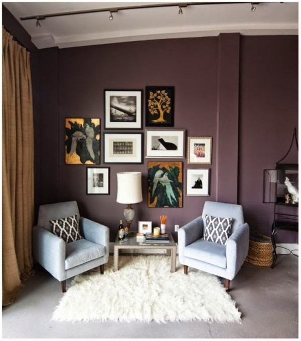 Plum Paint Living Room