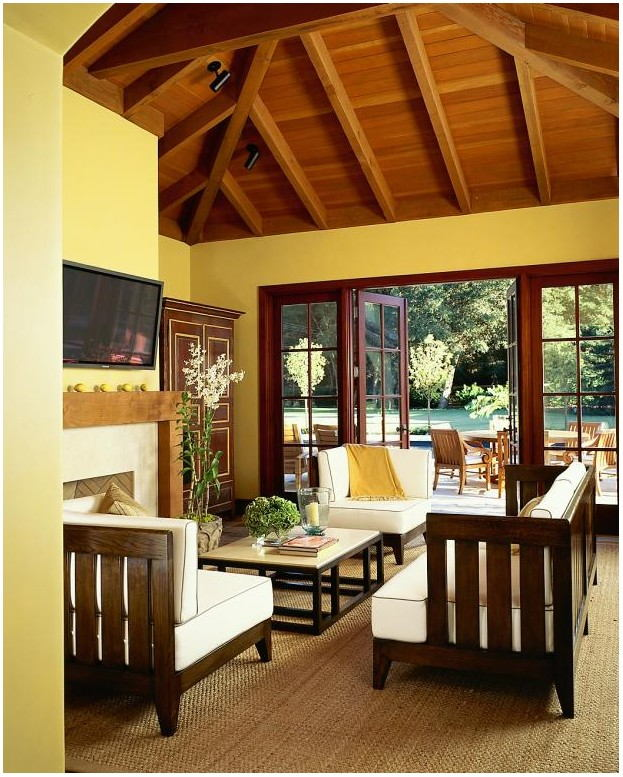 Post And Beam Living Room Paint Colors