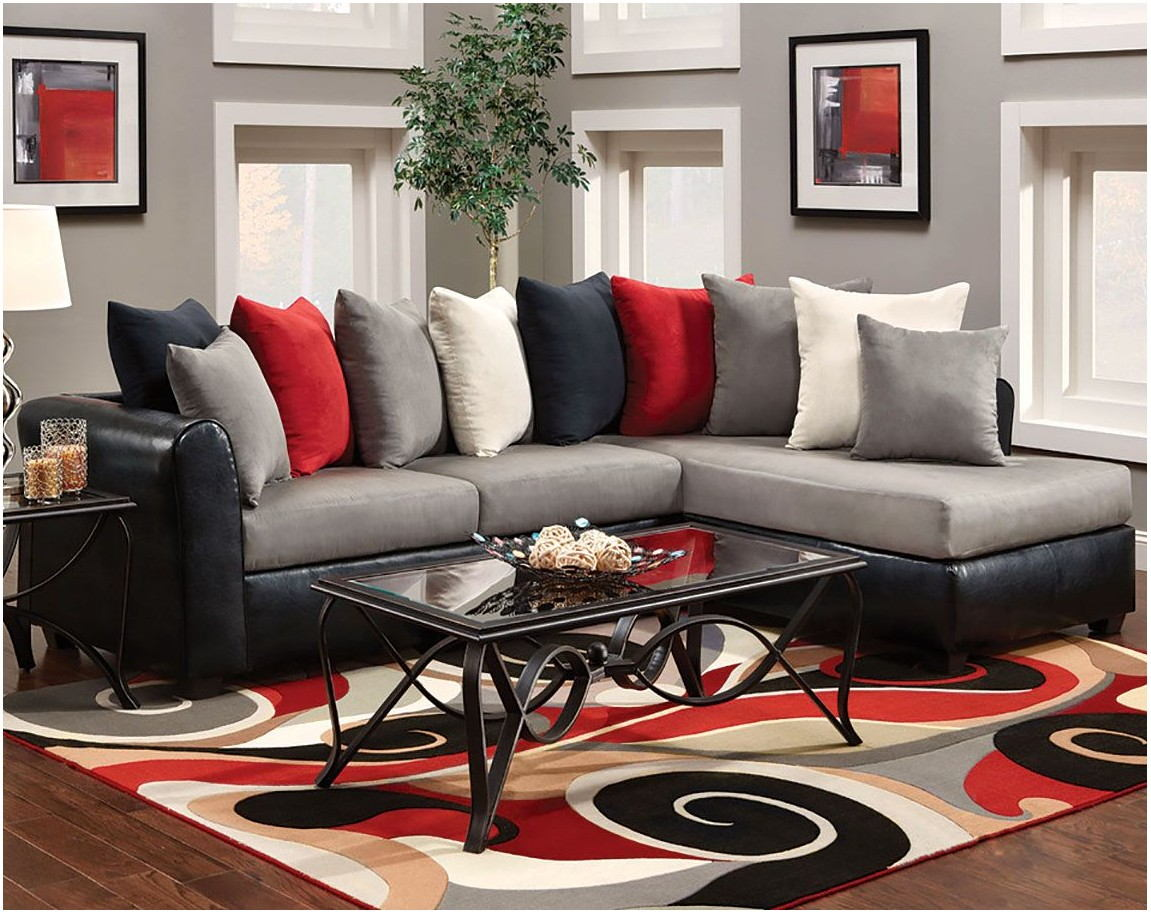 Red And Grey Interior Living Room