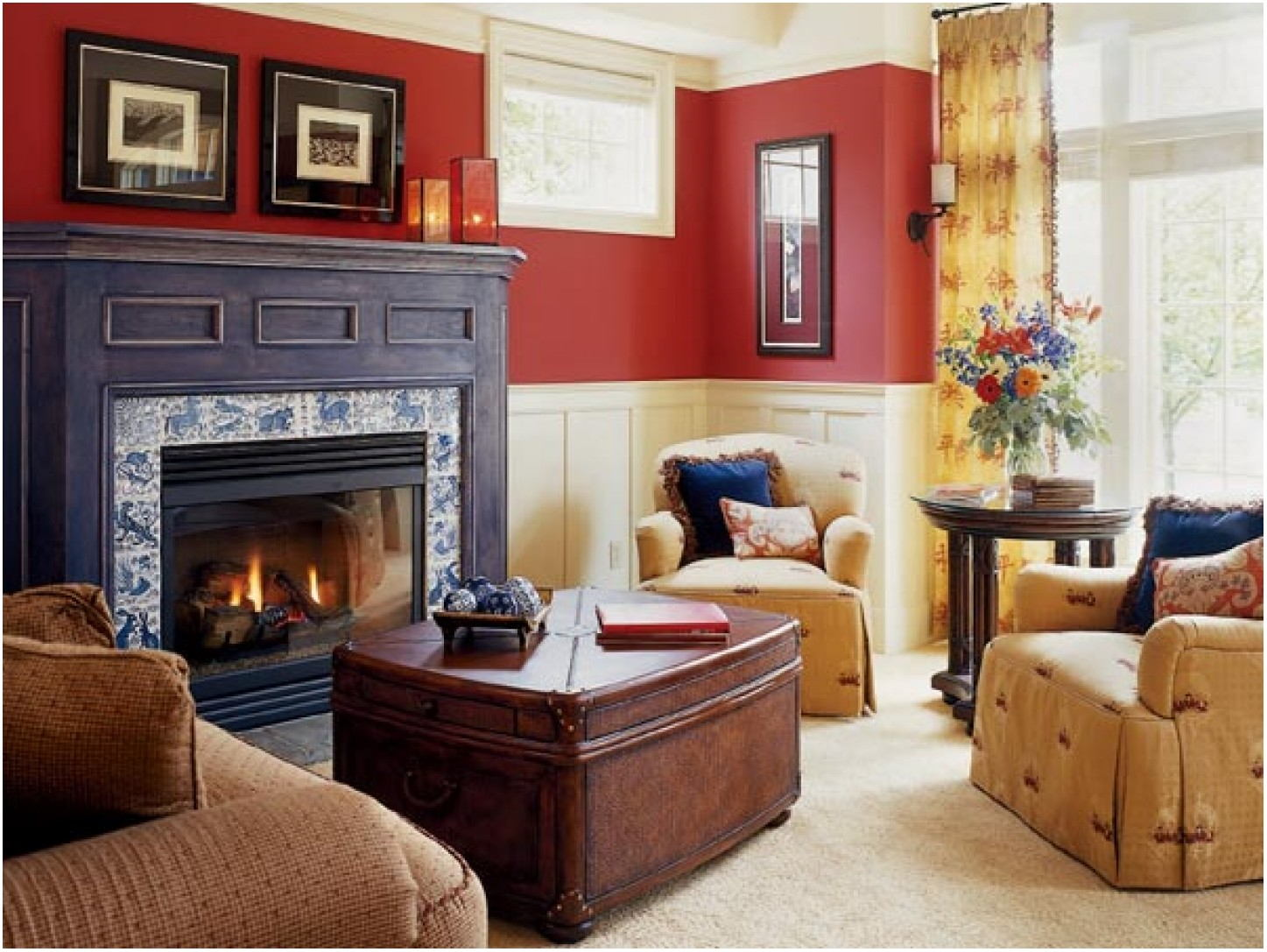 Red Living Room Colors Paint