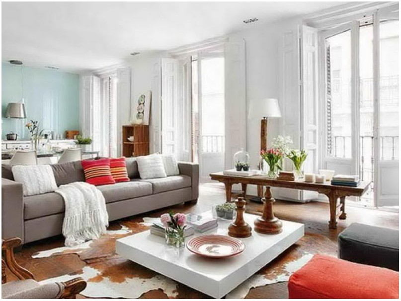 Shabby Chic Style Living Room Paint