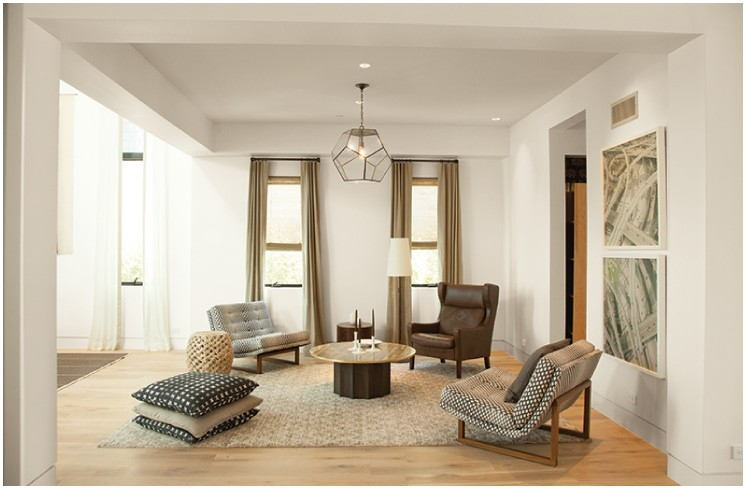 Soft Truffle Paint Living Room