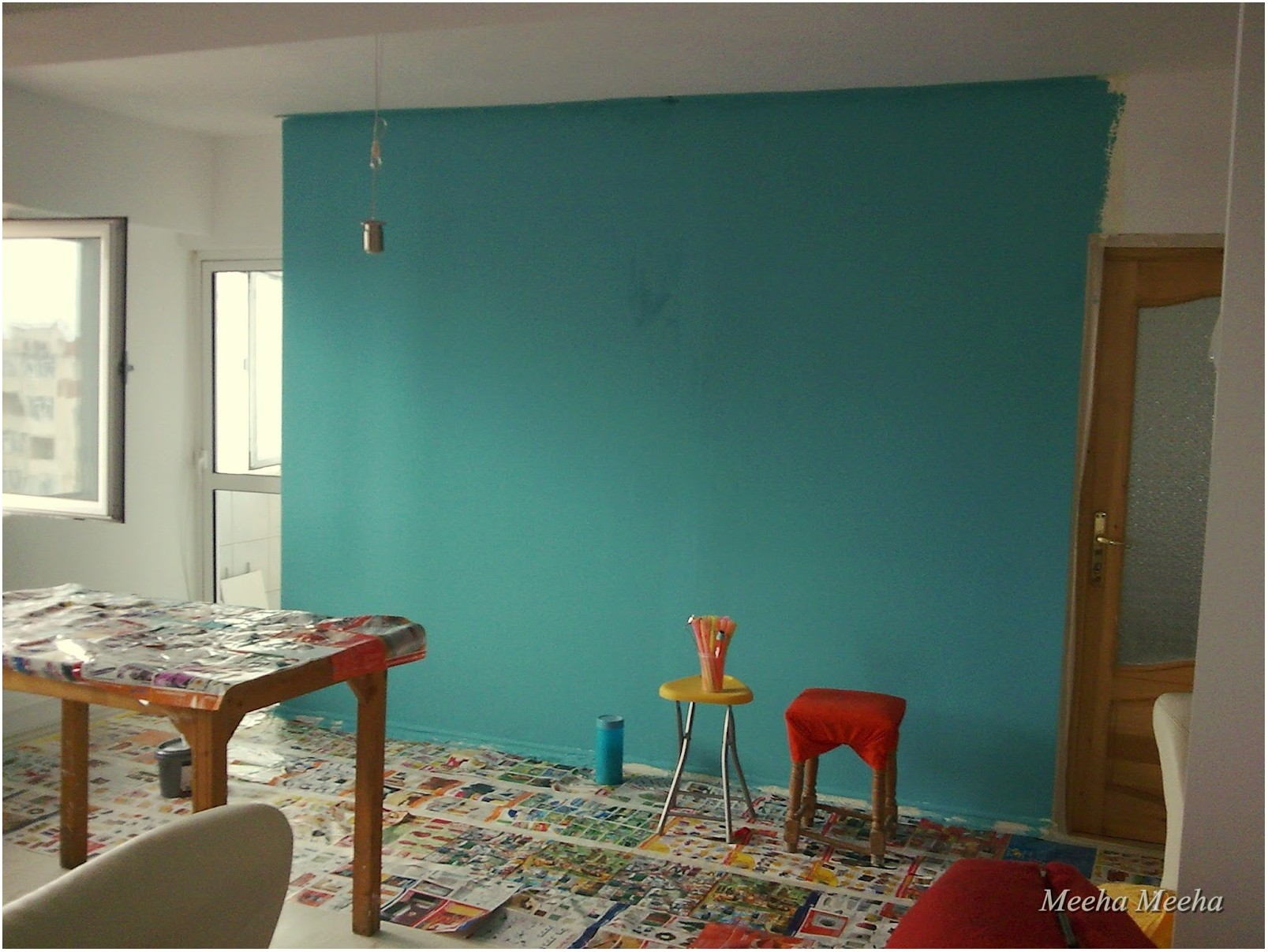 Turquoise Art Painting Living Room