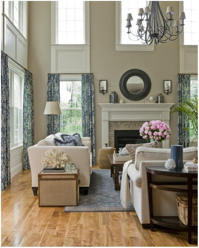 Two Story Living Room Paint