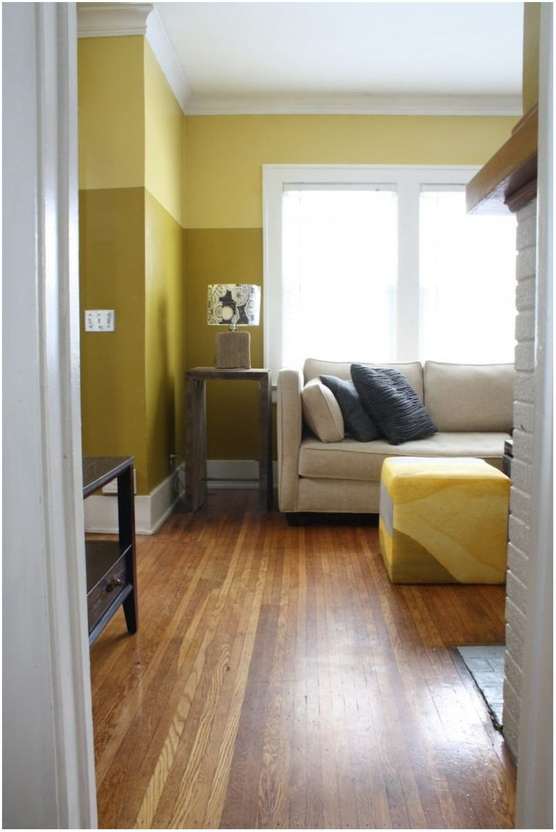 Two Tone Color Paint For Living Room