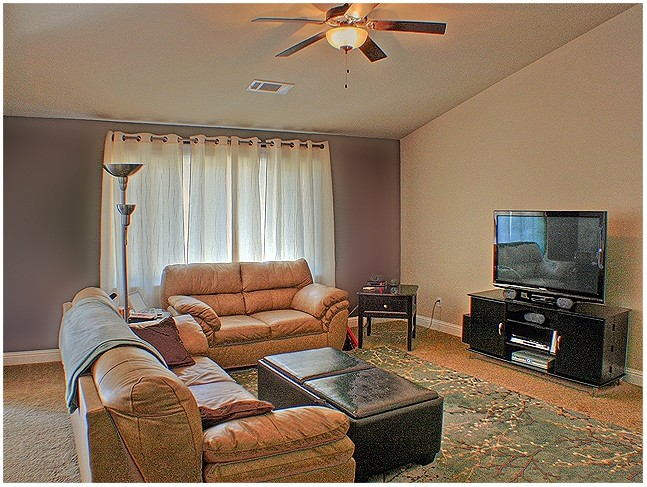 Two Toned Painted Living Rooms