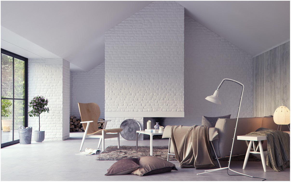 White Living Room Wall Paint