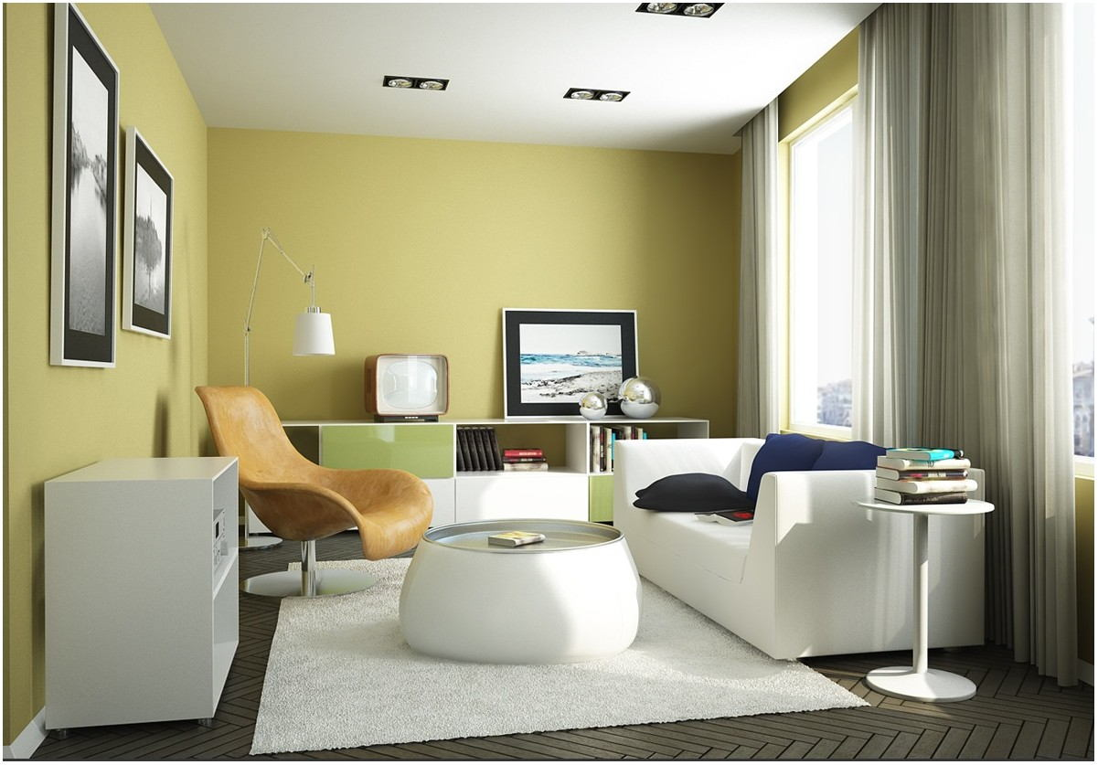 Yellow Green Paint Living Room