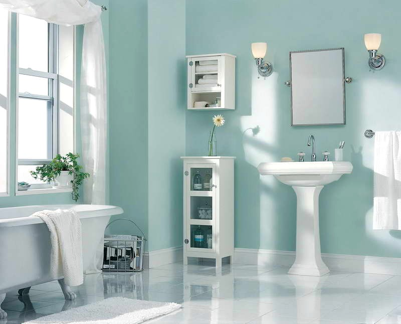 Bathroom Color Schemes With Oak Cabinets