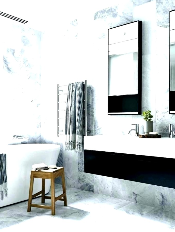 Gray And White Bathroom With Accent Color