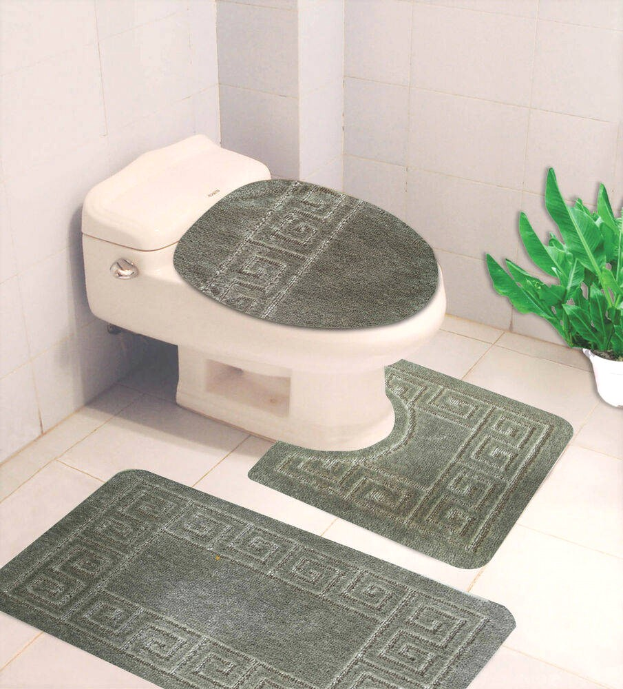 Sage Color Bathroom Rugs