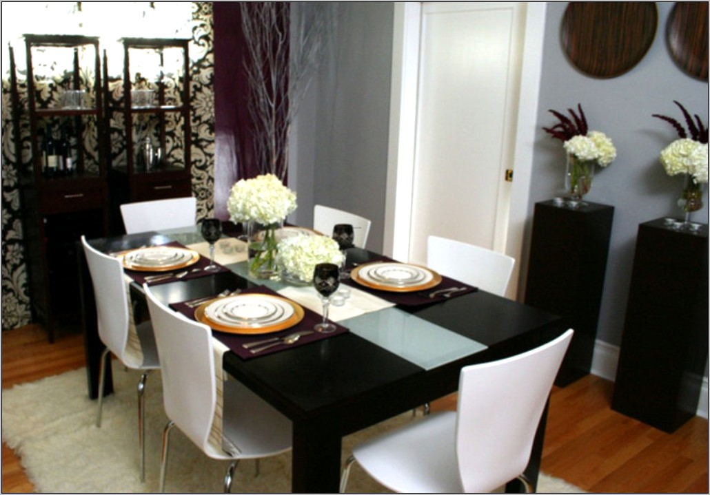 Black And White Dining Room Decorating Ideas