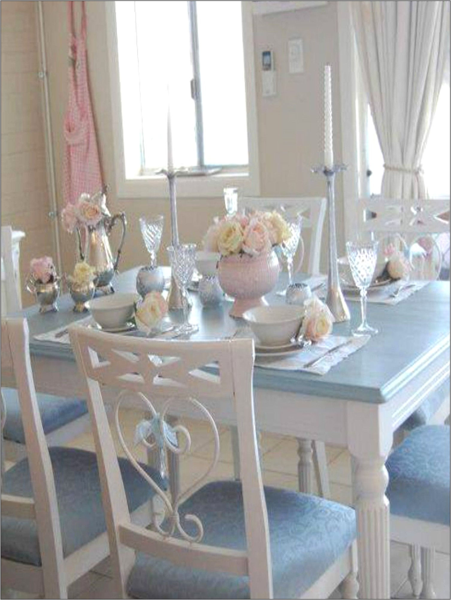 Blue Dining Room Table Decor