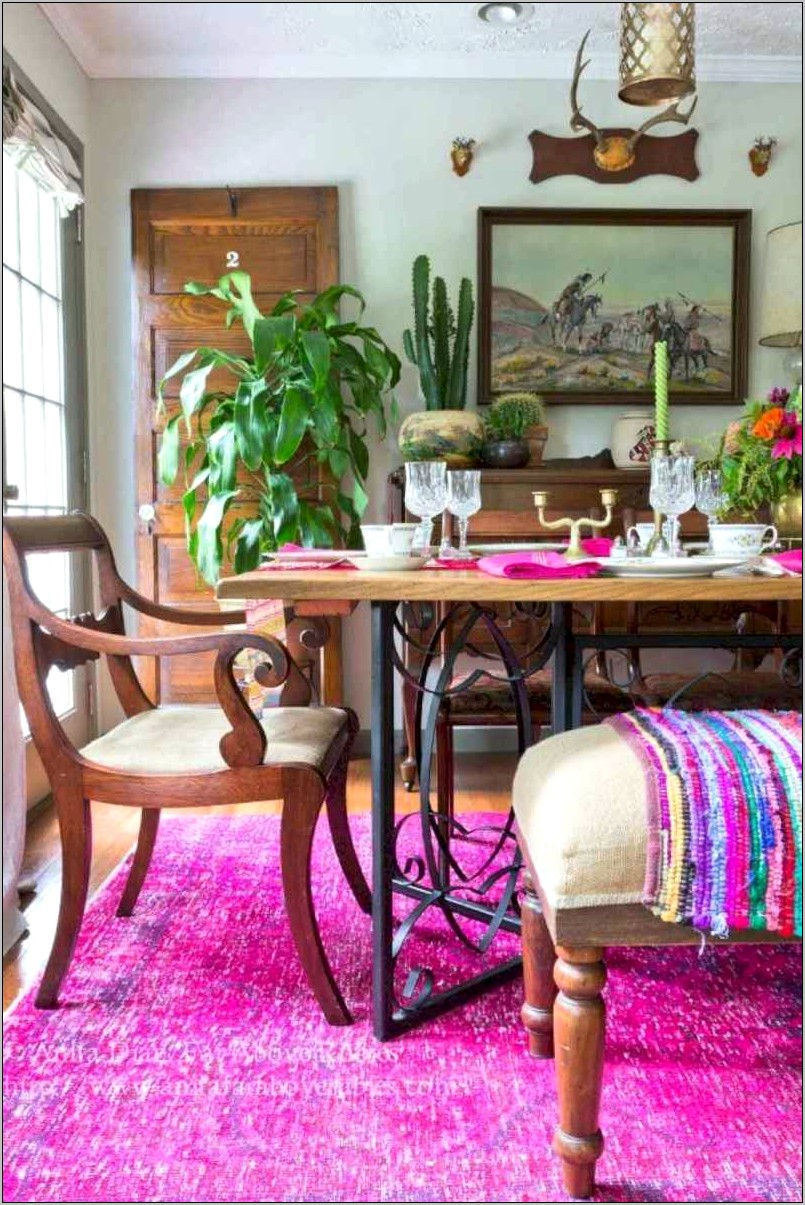 Bohemian Decor Dining Room