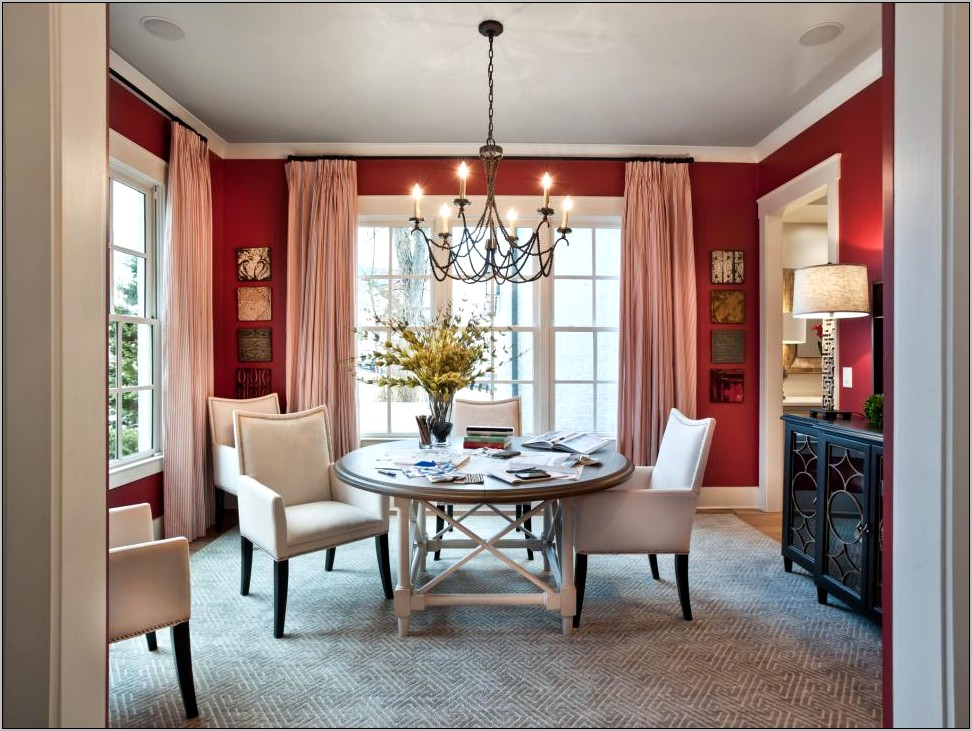 Curtain Ideas For A Red Dining Room