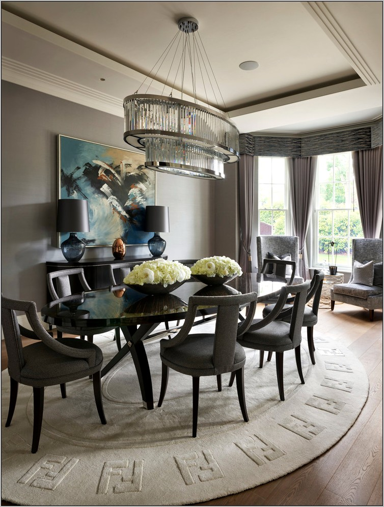 Decorated Grey Dining Rooms