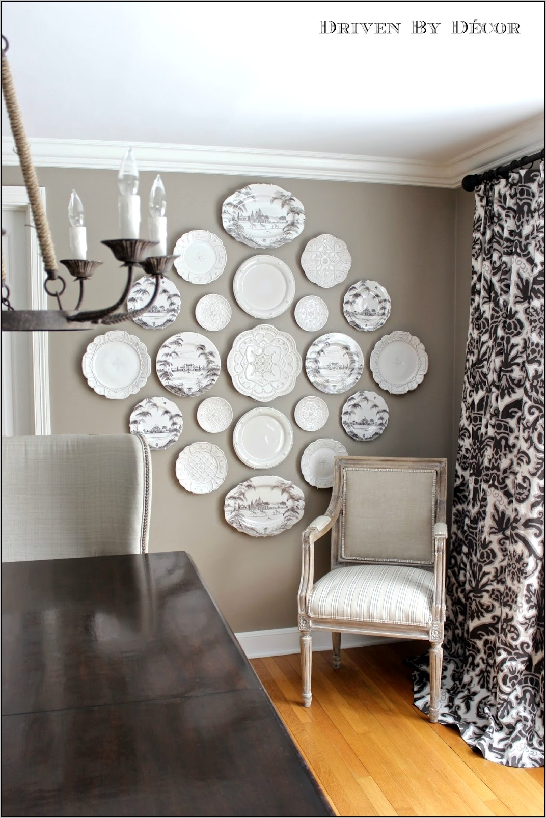 Decorating Dining Room Walls With Plates