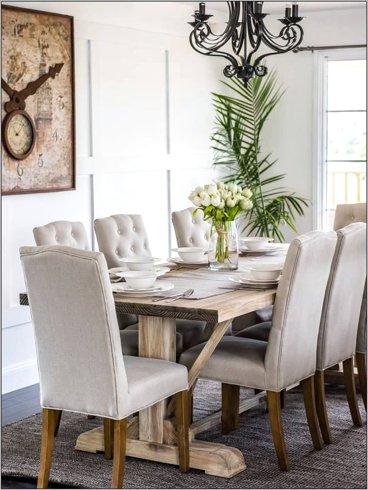Dining Room Decor Ideas With Beige Chairs
