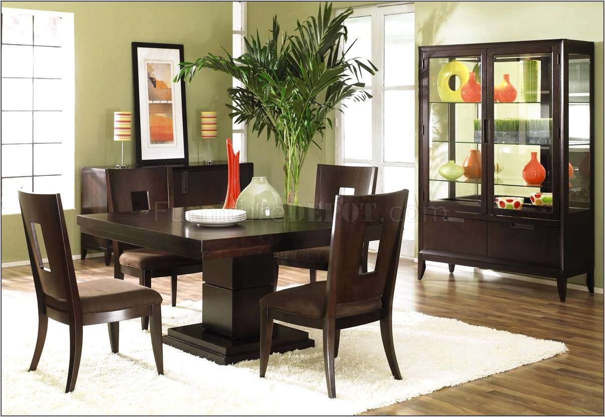 Dining Room Decorating Ideas Dark Wood