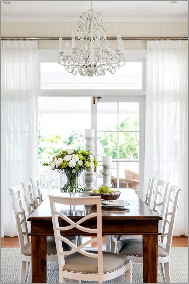 Dining Room Sheer Curtain Ideas