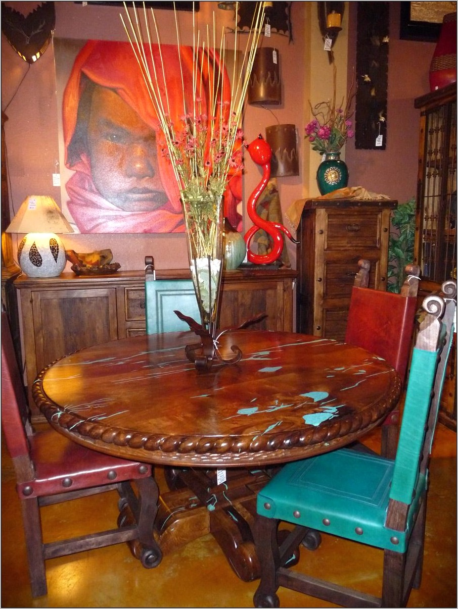 Dining Room Turquoise And Brown Decor Rustic