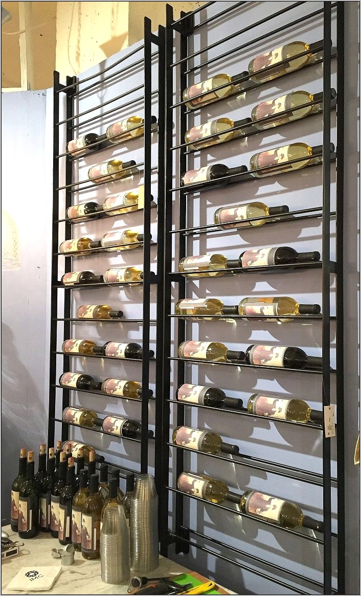 Dining Room Wall Wine Rack Idea