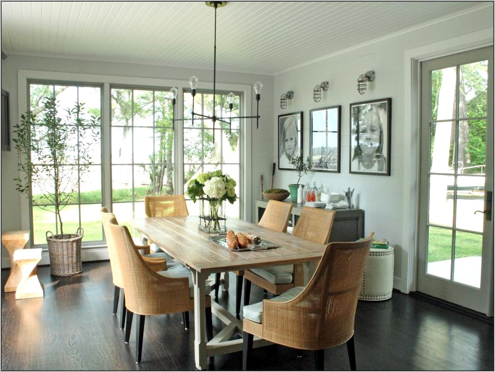 Dining Room With Seating Area Decor Farmhouse