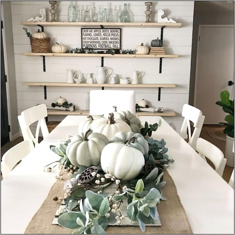 Fall Decorations For Dining Room Table