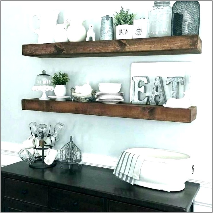 Ideas For Floating Shelves In Dining Room