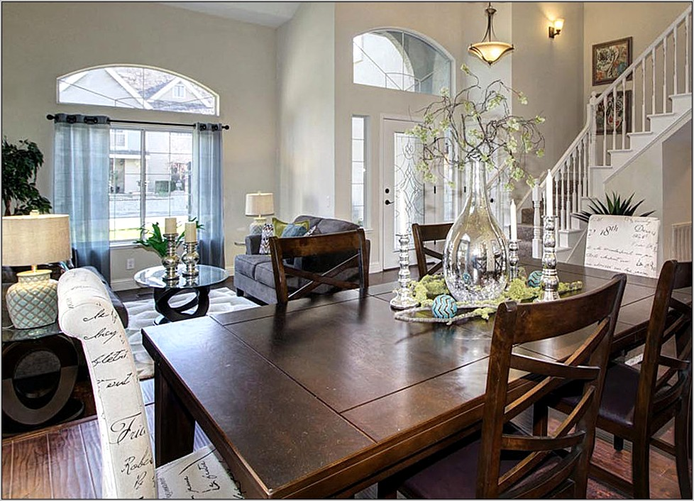 Ideas To Stage A Dining Room Table