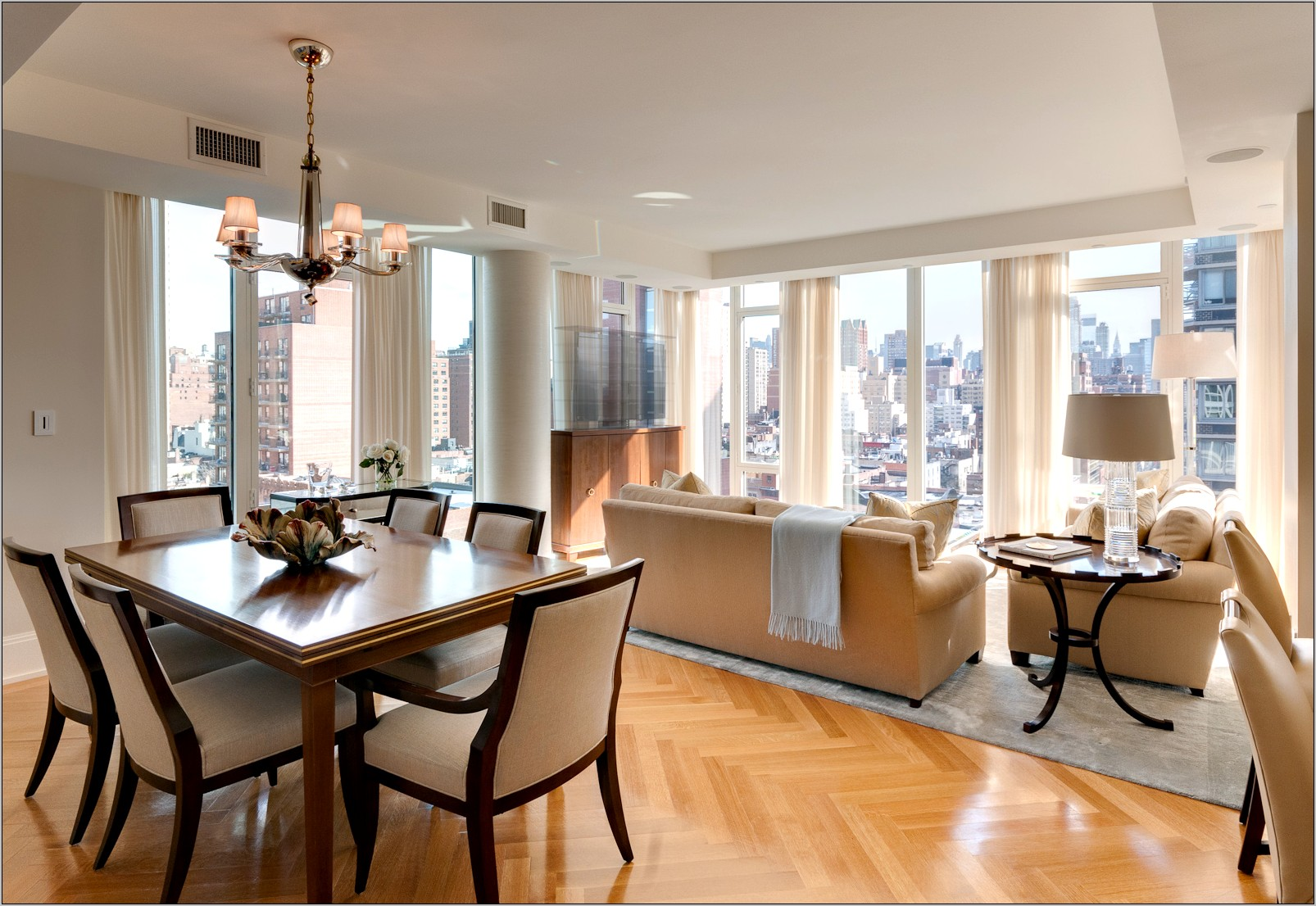 Living Room Dining Room Combination Decorating Ideas