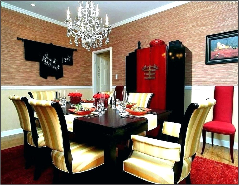 Red And Black Dining Room Ideas