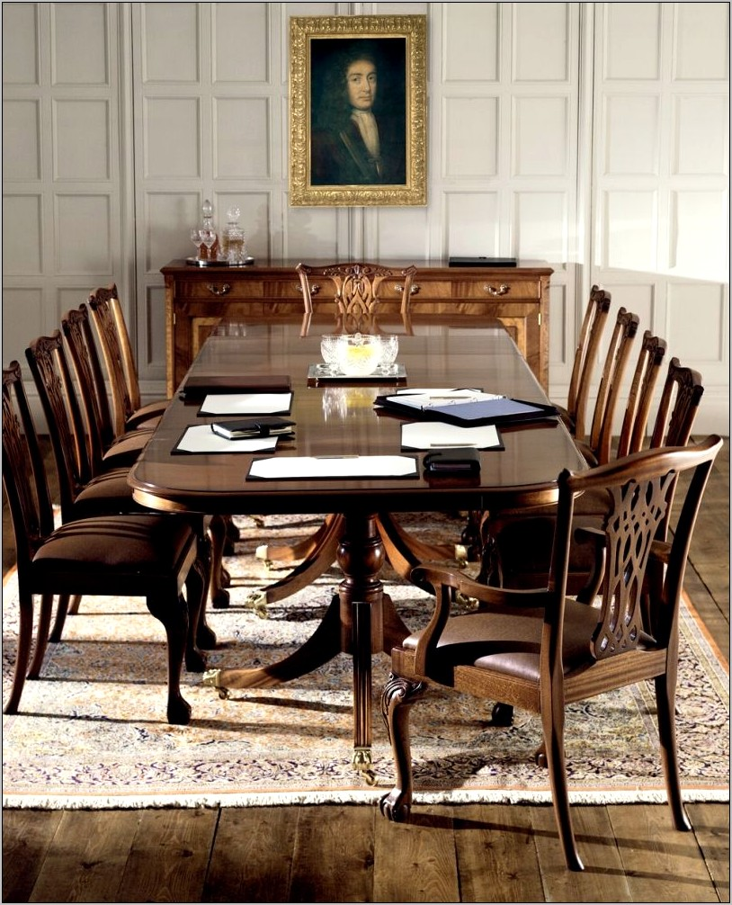 Traditionally Decorated Dining Room Table Tops