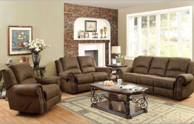 3 Piece Living Room Set Microfiber