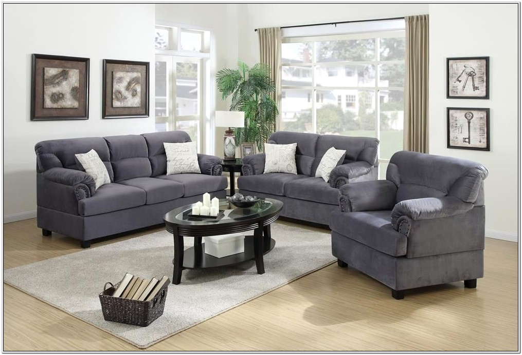 3 Piece Microfiber Living Room Set