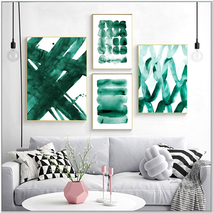 Abstract Living Room Decor