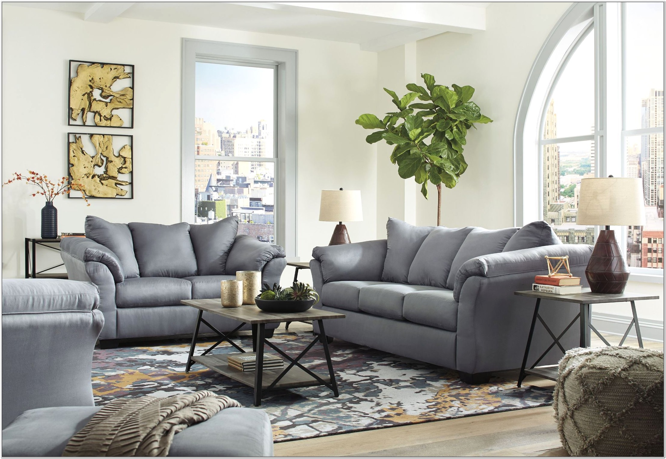 Altari Silver Living Room Set