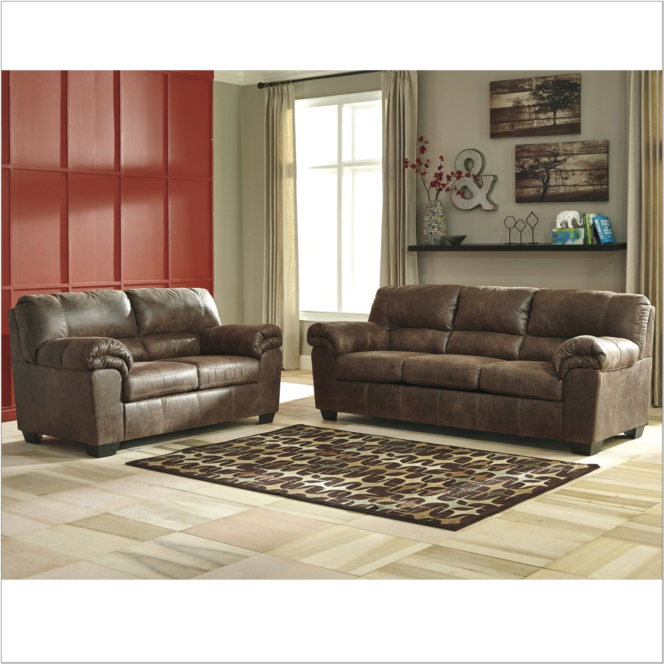 Ashley Furniture Faux Leather Living Room Set
