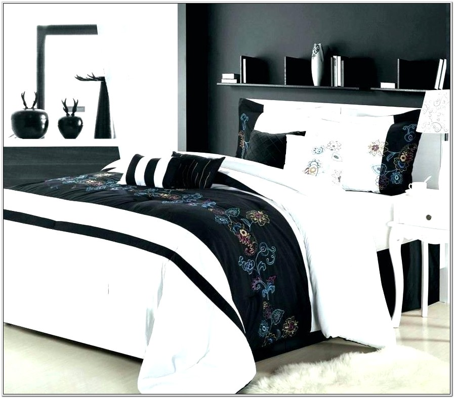 Bedroom Decor Black And White Sheets
